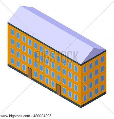 Campus Apartment Icon. Isometric Of Campus Apartment Vector Icon For Web Design Isolated On White Ba