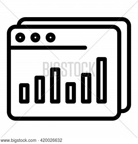 Human Resources Web Page Icon. Outline Human Resources Web Page Vector Icon For Web Design Isolated