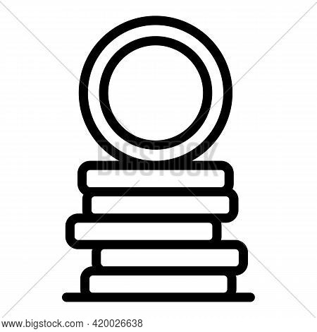 Human Resources Coins Stack Icon. Outline Human Resources Coins Stack Vector Icon For Web Design Iso