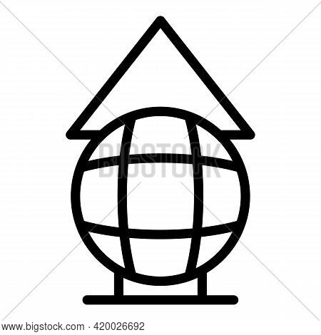 Human Resources Global Search Icon. Outline Human Resources Global Search Vector Icon For Web Design