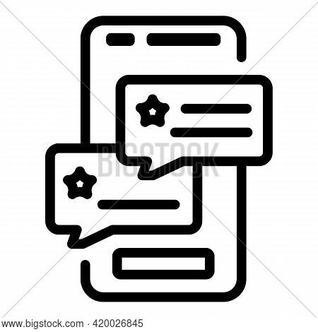 Human Resources Phone Chat Icon. Outline Human Resources Phone Chat Vector Icon For Web Design Isola
