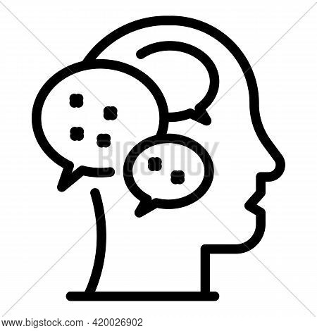 Human Resources Mind Chat Icon. Outline Human Resources Mind Chat Vector Icon For Web Design Isolate