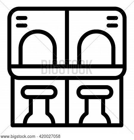 Accessible Environment Ticket Sell Icon. Outline Accessible Environment Ticket Sell Vector Icon For