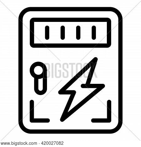 Accessible Electricity Icon. Outline Accessible Electricity Vector Icon For Web Design Isolated On W