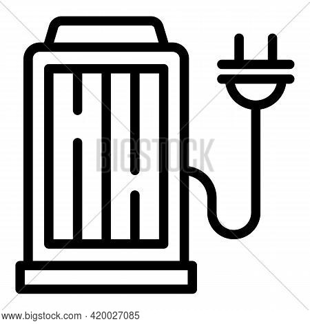 Accessible Solar Charging Station Icon. Outline Accessible Solar Charging Station Vector Icon For We