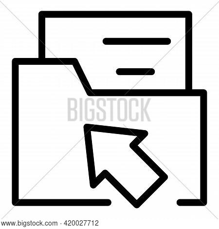 Api Personal Folder Icon. Outline Api Personal Folder Vector Icon For Web Design Isolated On White B