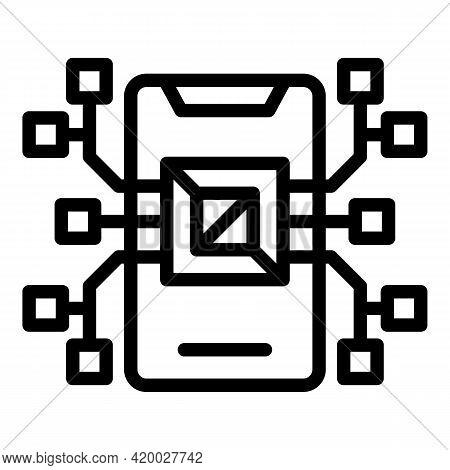 Api Phone Processor Icon. Outline Api Phone Processor Vector Icon For Web Design Isolated On White B
