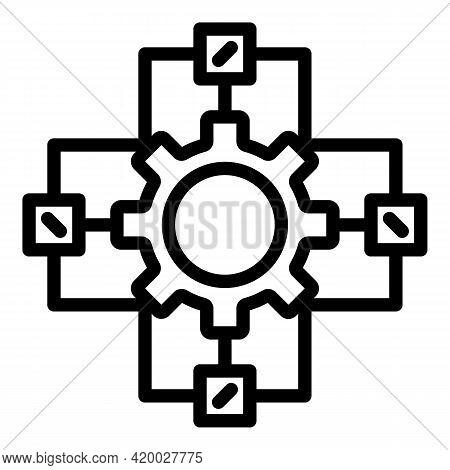 Api Change Wheel Icon. Outline Api Change Wheel Vector Icon For Web Design Isolated On White Backgro