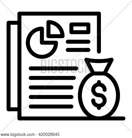 Financial Planning Document Icon. Outline Financial Planning Document Vector Icon For Web Design Iso