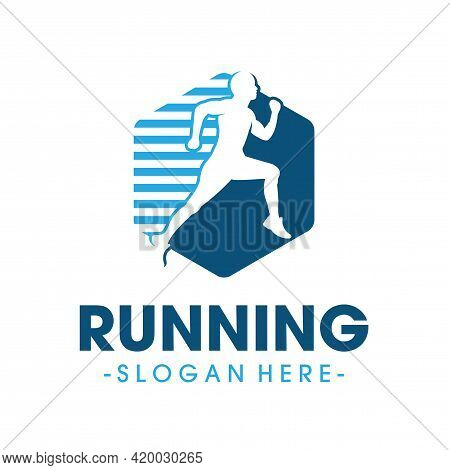 Running Health Logo. Marathon Logo Design Vector