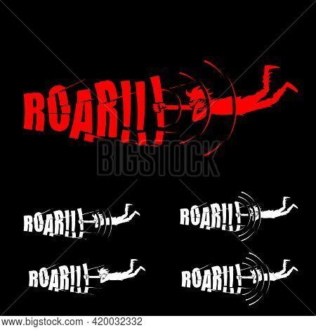 Roar  Wordmark Vector Symbol Noisy Loud Sound Concept Concepts