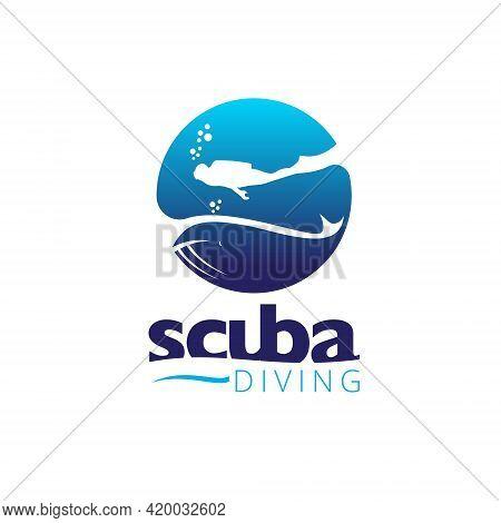S Logo, Letter Based Scuba Diving Symbol
