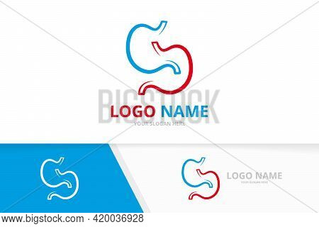 Creative Stomach Logotype Design Template. Stomach Logo Vector Template.