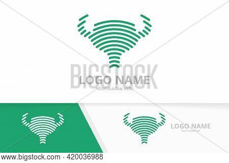 Bladder Logo Combination. Human Urology Organ Sign. Urinary Tract Logotype Design Template.