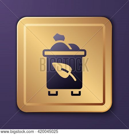 Purple Recycle Bin With Recycle Symbol Icon Isolated On Purple Background. Trash Can Icon. Garbage B