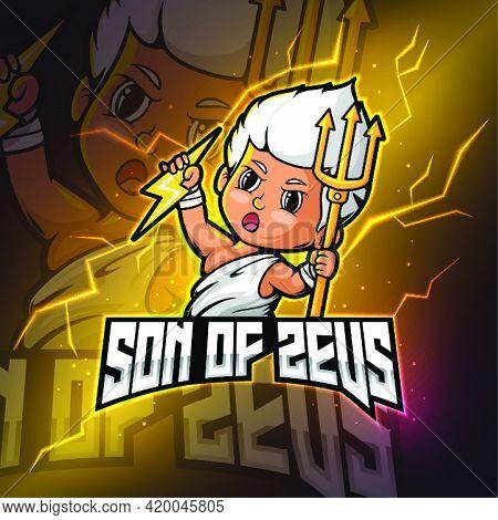 Zeus Mascot Esport Logo Design Of Illustration
