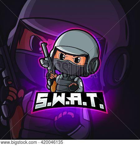 Swat Mascot Esport Logo Design Of Illustration