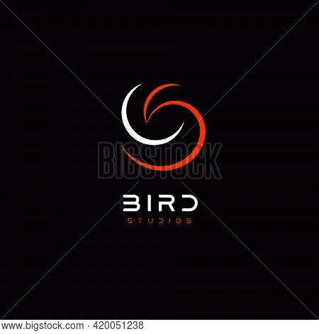 Bird Abstract Logo Template For Business Identity, Modern And Elegant Linear Hen Or Dove Bird Logoty