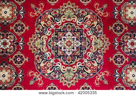 Oriental Persian Carpet Texture. Carpet Background Texture poster