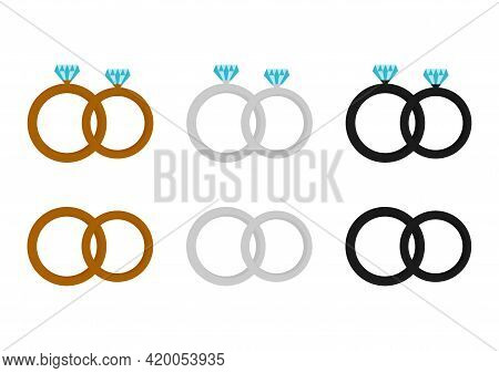 Illustration Of A Ring With Three Types Of Rings, Gold, Silver And Black Aluminum Rings