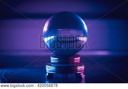 Magical Fortuneteller's Glass Ball For Predicting And Telling The Future.