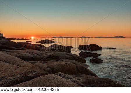 Sunset In The Cies Islands Vigo, Galicia