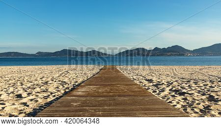 Vao Beach, Vigo. White Sand And Turquoise Waters