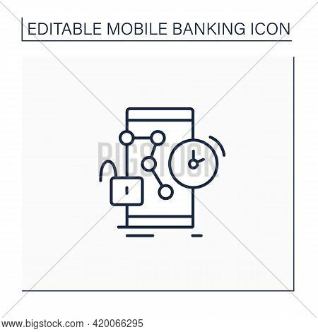 Request New Pin Line Icon. Changing Password To Protection Banking Account. Saving Money. Online Mob