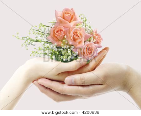 Hands And A Bouquet