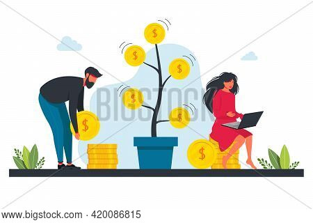 People Invest In Stock Market, Income Money, Rising Rate, Profit, Young Generation. Investment, Mone