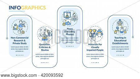 Exclusions To Copyright Vector Infographic Template. News, Quotation Presentation Design Elements. D