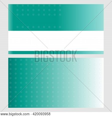 Visiting Card Green Turquoise Abstract Background Banner Design Template.