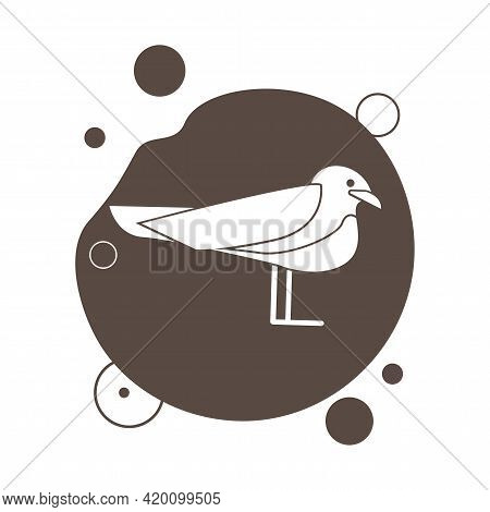 Seagull Simple Vector Icon. Seagull Vector Icon