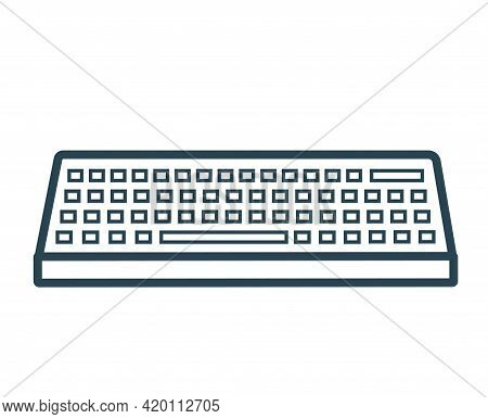 Vector Icon Of The Computer Keyboard. Isolated.