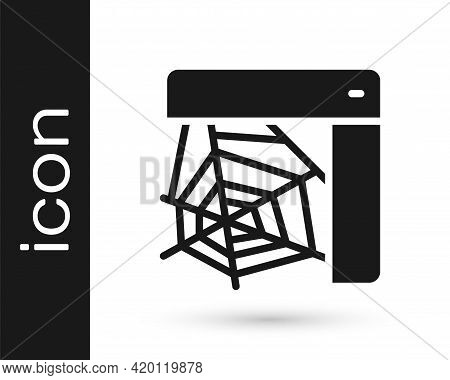 Black Spider Web Icon Isolated On White Background. Cobweb Sign. Happy Halloween Party. Vector