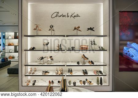KUALA LUMPUR, MALAYSIA - CIRCA JANUARY, 2020: interior shot of Charles  Keith store in Kuala Lumpur.