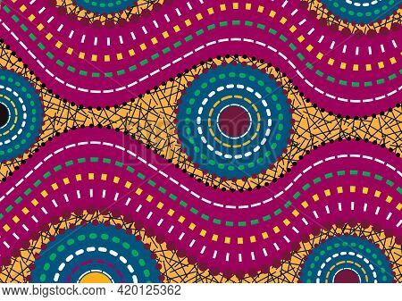African Wax Print Fabric, Ethnic Handmade Ornament For Your Design, Ethnic And Tribal Motifs Geometr