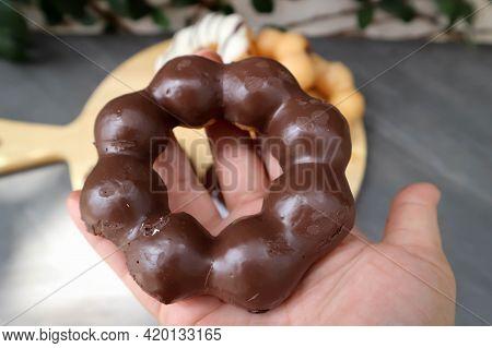 Donut, Doughnut Or Chocolate Donut For Serve