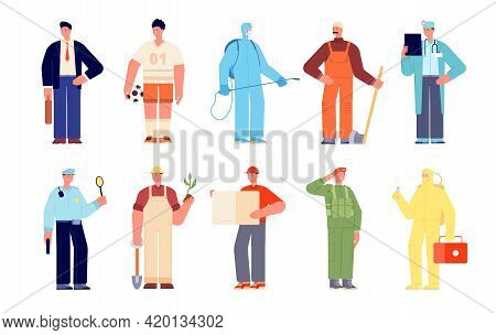 People Diverse Occupation. Modern Business Group, Office Worker And Professionals. Friendly Employee