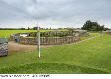 Gretna Green, Scotland, Uk, August 2020 - View Of The Courtship Maze At Gretna Green, Scotland, Uk