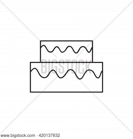 Cake Dessert Cute Simple Vector Icon Drawing