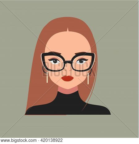 Fashion Woman In Fancy Eyeglasses. Glamourous Girl. Fashionable Female Portrait For Prints, Cards, P