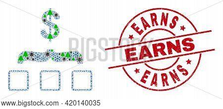 Winter Covid Mosaic Dollar Aggregation, And Earns Red Round Badge. Mosaic Dollar Aggregation Is Comp