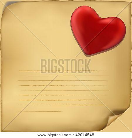 Liefde brief pictogram. Illustratie op witte achtergrond