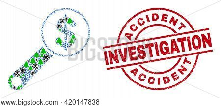 Winter Covid-2019 Mosaic Financial Audit, And Unclean Accident Investigation Red Round Watermark. Co