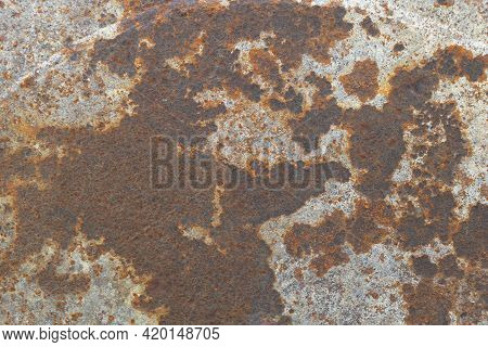 Rusty Metal Surface Texture - Rust And Oxidized Metal Background.