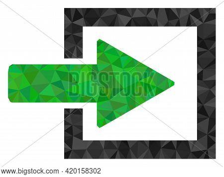 Triangle Import Arrow Polygonal Icon Illustration. Import Arrow Lowpoly Icon Is Filled With Triangle