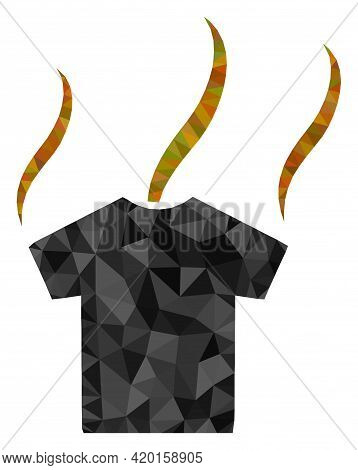 Triangle Smell T-shirt Polygonal Symbol Illustration. Smell T-shirt Lowpoly Icon Is Filled With Tria