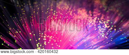 abstract background of fiber optic network cables