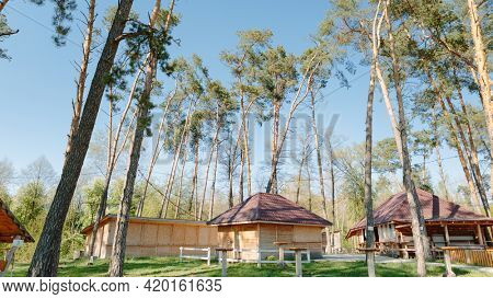 Gazebo in the woods. holiday house